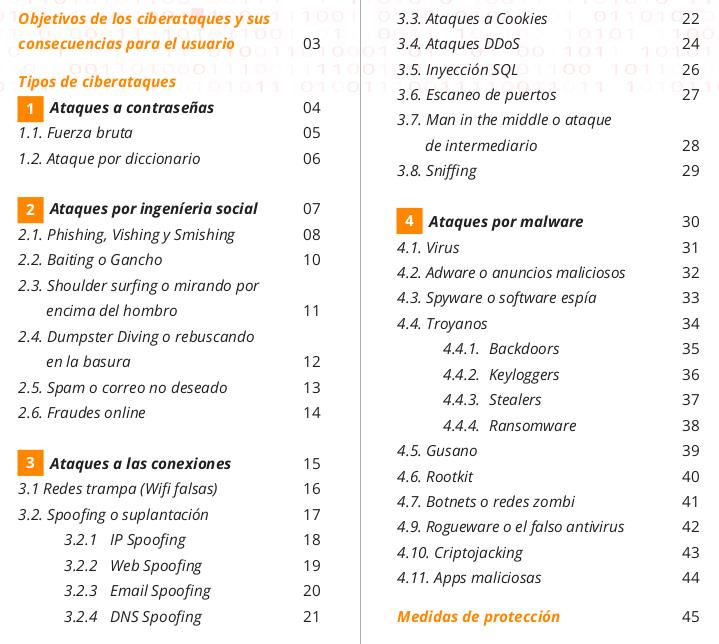 Guía en PDF sobre ciberataques